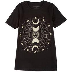 Ana Cabana Womens Celestial Crew Neck T-Shirt