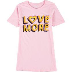 Ana Cabana Womens Love More Round Neck T-Shirt