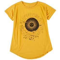 Ana Cabana Womens Sun & Moon Round Neck T-Shirt