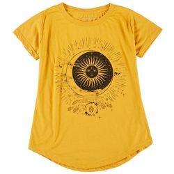 Ana Cabana Womens Sun & Moon Round Neck T-Shirt