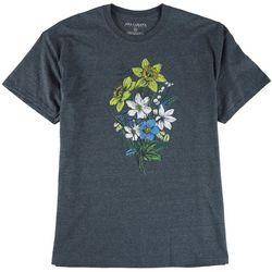 Ana Cabana Womens Floral Screen Print Oversized T-Shirt