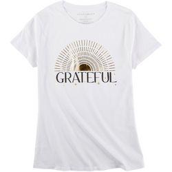 Ana Cabana Womens Grateful Round Neck T-Shirt
