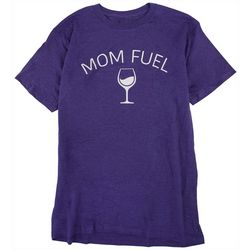 Ana Cabana Womans  Mom Fuel Quote Short Sleeve Top