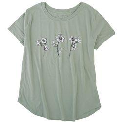 Ana Cabana Womens Wild Flowers Screenprint T-Shirt