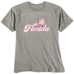 Ana Cabana Womens Florida Flamingo Short Sleeve T-Shirt