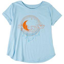 Ana Cabana Womens Urban Moon Print Short Sleeve T-Shirt