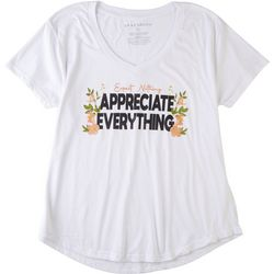 Ana Cabana Womens Expect Nothing Appreciate Everything Shirt