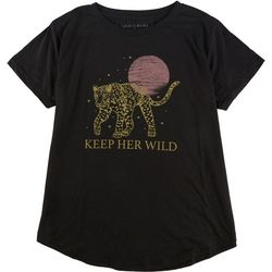 Ana Cabana Womens Keep Her Wild T-Shirt