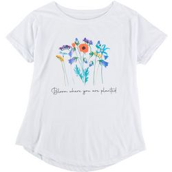 Ana Cabana Womens Bloom Where You Are Planted T-Shirt