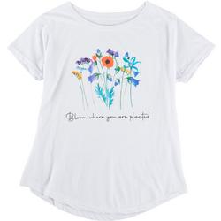 Womens Bloom Where You Are Planted T-Shirt
