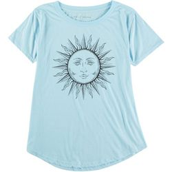 Ana Cabana Womens Sun Scoop Neck Graphic Tee