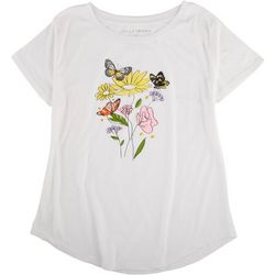 Ana Cabana Womens Floral Screen Print T-Shirt