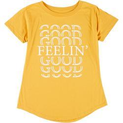 Womens Feelin' Good Round Neck T-Shirt