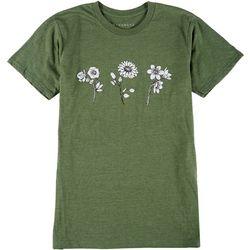 Ana Cabana Womens Wildflower Crew Neck T-Shirt