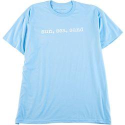 Ana Cabana Womens Sun, Sea, Sand Scoop Neck T-Shirt