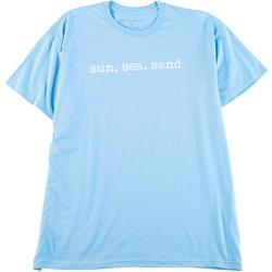 Womens Sun, Sea, Sand Scoop Neck T-Shirt