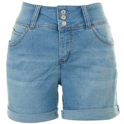 Royalty Womens Solid Bermuda Shorts