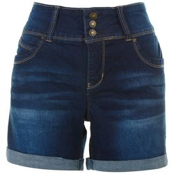 Royalty Womens Solid Bermuda Shorts