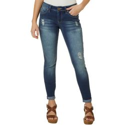Royalty by YMI Womens WannaBettaButt Roll Cuff Jeans