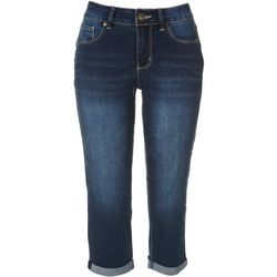 Royalty by YMI Womens Cuffed Jean Capris