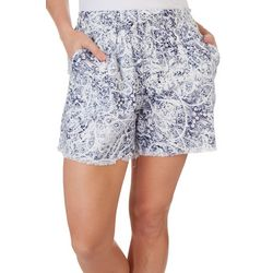 Royalty By YMI Womens Linen Shorts