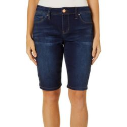 Royalty by YMI Womens Tummy Control Denim Bermuda Shorts