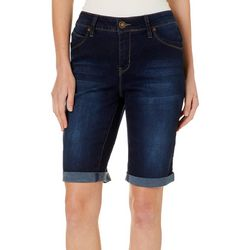 Royalty by YMI Womens WannaBettaButt Denim Bermuda Shorts