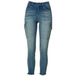 Royalty by YMI Womens Cargo Pocket Denim Jeans