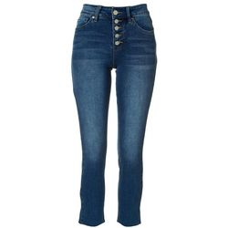 Royalty by YMI Womens Exposed Button Fly Denim Jeans