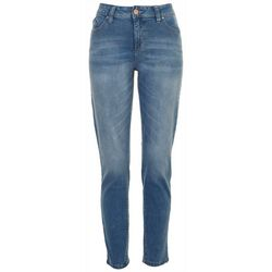 Royalty Womens Solid Skinny Light Denim Jeans