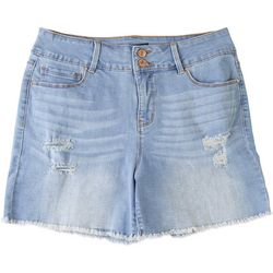 Royalty by YMI Womens Hide Your Muffin Top Frayed Shorts
