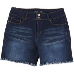 Royalty by YMI Womens Hide Your Muffin Top Fringe Shorts