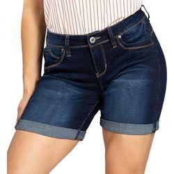 Royalty by YMI Womens WannaBettaButt Roll Cuff Denim Shorts