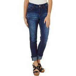 Royalty by YMI Womens WannaBettaButt Mega Cuff Ankle Jeans