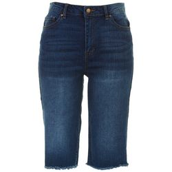 D. Jeans Womens Reclycled Denim Knee Grazer Pants