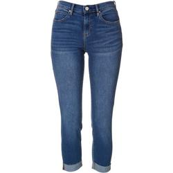 Nicole Miller NY Womens High Rise Skinny Cropped Capris