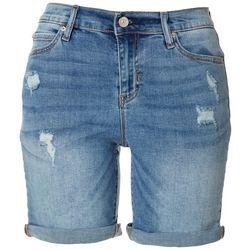 Nicole Miller New York SoHo High Distressed Cuff Shorts