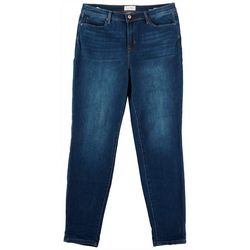 Nicole Miller Womens Solid Denim Jeans