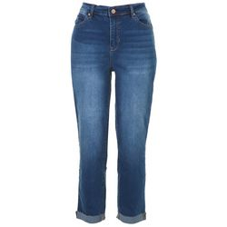 Nicole Miller NY Womens Skinny Cuffed Jeans