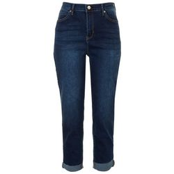 Nicole Miller NY Womens Solid Cuffed Jeans