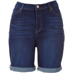 Nicole Miller High Rise Bermuda Cuff Shorts