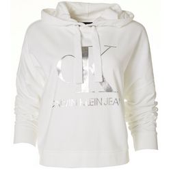 Calvin Klein Womens Cropped Logo Hoodie