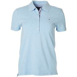 Tommy Hilfiger Womens Pique Short Sleeve Polo Shirt