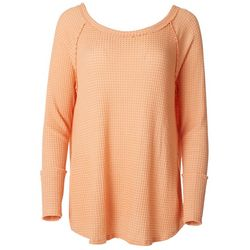 Fore Womens Solid Waffle Knit Sweater