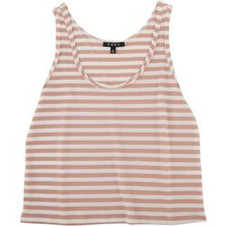 Fore Womens Striped Waffle Knit Tank