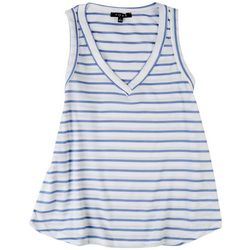 Fore Womens Striped Waffle Knit Tank tTop