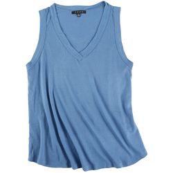 Fore Womens Solid Waffle Knit Tank