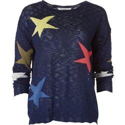 Dave & Dani Rainbow Star Lightweight Sweater