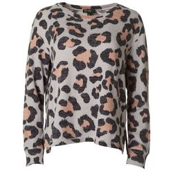 Jessica Simpson Womens Leopard Pullover Sweater