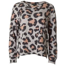 Womens Leopard Pullover Sweater